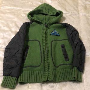 🔥🔥DIESEL Wool/cotton!quilted sleeves hoodie
